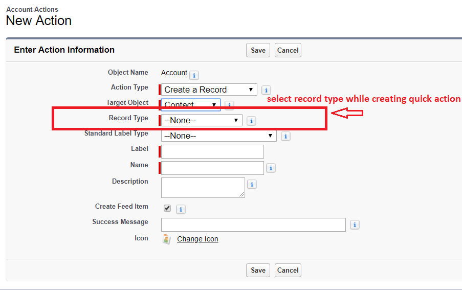 Record Type Selector Quick Action in Lightning – SFDCFacts