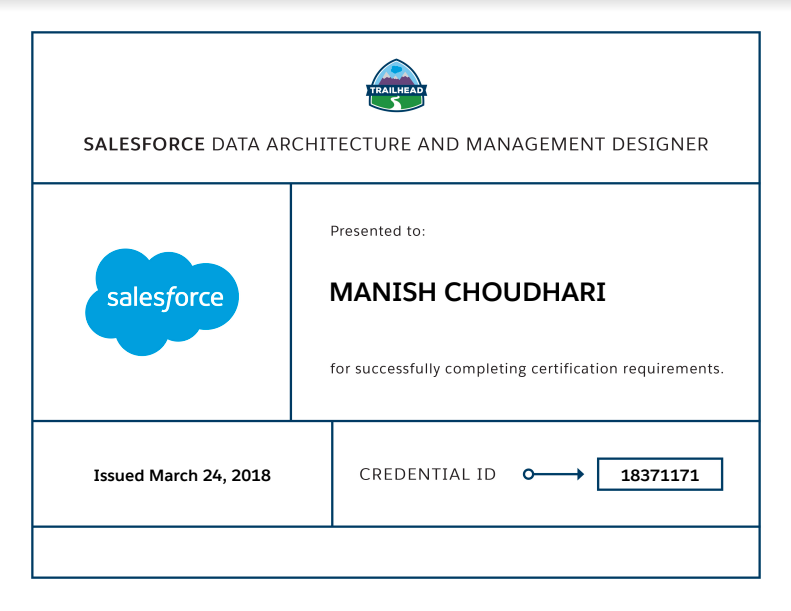 Data Architecture And Management Designer – My Experience
