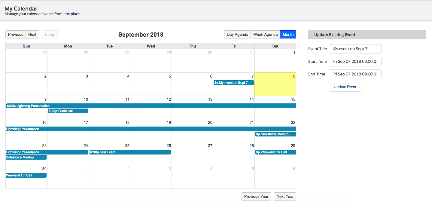 FullCalendar In Visualforce – An easy calendar event