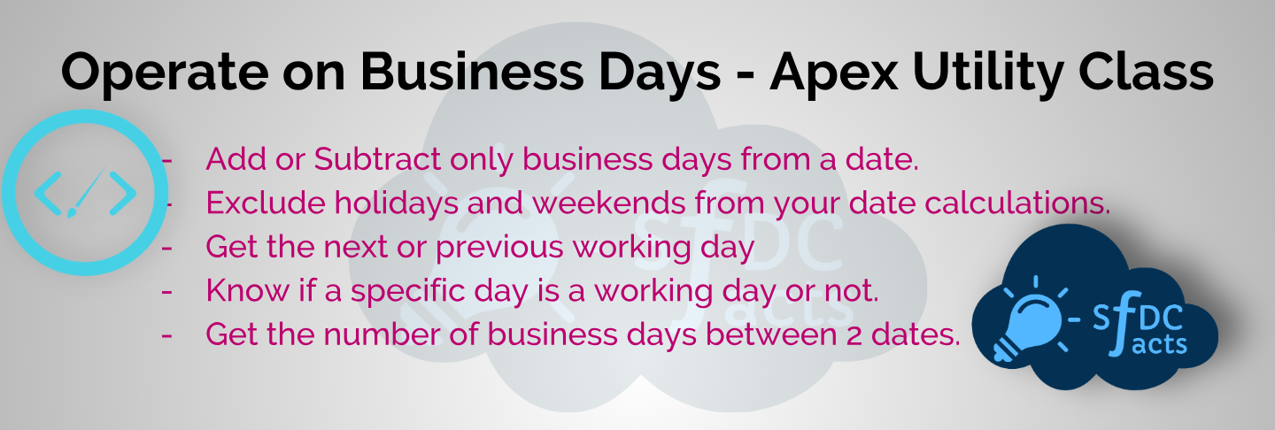 Calculate Business Days In Apex – Utility Class